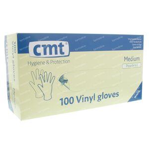 Glove CMT Vinyl White Transparant mm 100 pieces