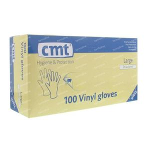 Glove CMT Vinyl White gm 100 St