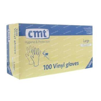 Handschoen CMT Vinyl Wit gm 100 stuks