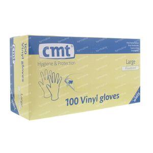 Glove CMT Vinyl White gm 100 pieces