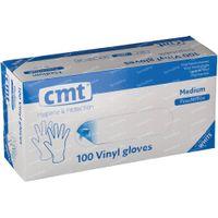 Handschoen CMT Vinyl Wit Transparant Zonder Poeder mm 100 st