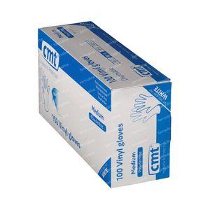 Handschoen CMT Vinyl Wit Transparant Zonder Poeder mm 100 stuks