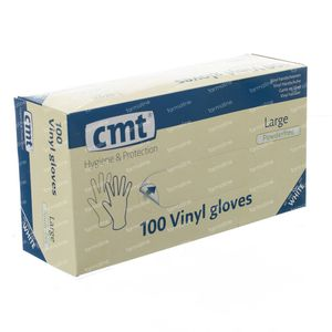 Glove CMT Vinyl White Transparant Without Powder gm 100
