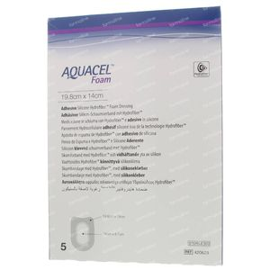 Aquacel Foam Adh Hiel 19,8x14cm² 420625 5 stuks