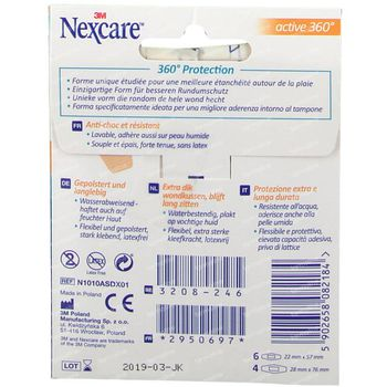 Nexcare Active 360° - 2 Tailles 10 st