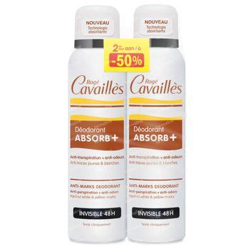 Rogé Cavaillès Déodorant Absorb+ 48h Invisible DUO 2x150 ml spray