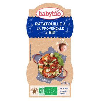 Babybio Slaap Lekker Ratatouille-Rijst 12 Maanden 2x200 g