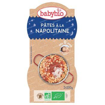 Babybio Bonne Nuit Pâtes à la Napolitaine 8 Mois 2x200 g