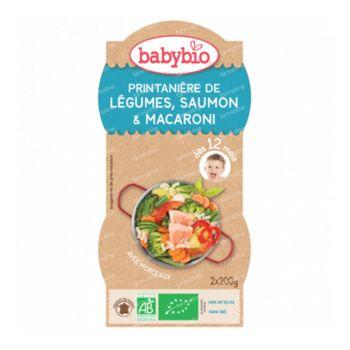 Babybio Bipack Groenten-Zalm-Pasta 8 Maanden 2x200 g