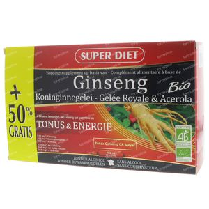 Super Diet Ginseng-Royal Jelly Bio Promo 30 x 15 ml Ampoules