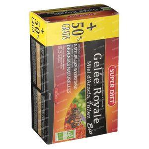 Super Diet Gelée Royale Miel Pollen Bio Prix Réduit 3x15 ml ampoules
