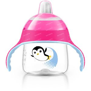 Avent Trink Cup Anti-Leak Pinguin Pink +6m 200 ml