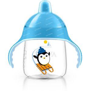 Avent Trink Cup Anti-Leak Pinguin Blue +12m 260 ml