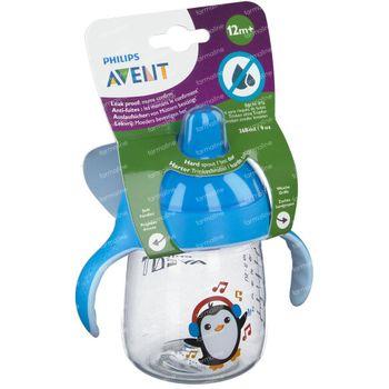 Avent Gobelet Anti-Fuite Pinguin Bleu +12m 260 ml