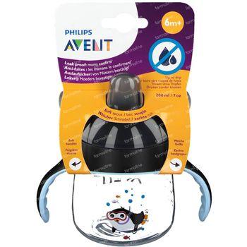 Avent Gobelet Anti-Fuite Pinguin +6m 200 ml