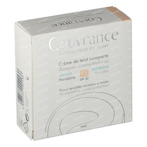 Avène Couvrance Getinte Compact Creme Oil-Free 01 Porcelaine 10 g