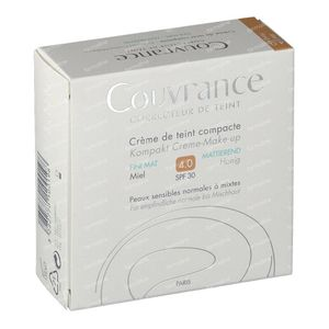 Avène Couvrance Compact Foundation Cream Oil-Free 04 Miel 10 g