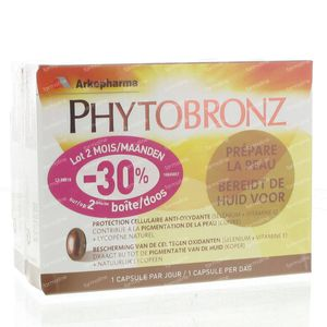 Arkopharma Phytobronz Duo 2nd Box At -30% 60 capsules