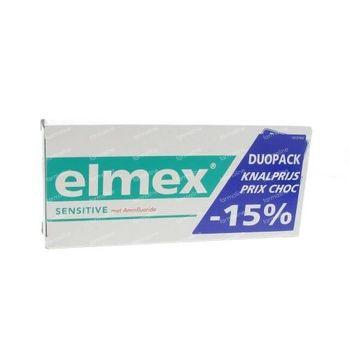 Elmex Dentifrice Sensitive Bitube Prix Réduit 2x75 ml