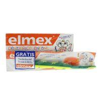 Elmex Dentifrice Enfant + Brosse à Dents 0-3 Ans 100 ml