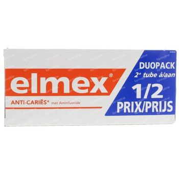 Elmex Dentifrice Anti-Caries Adulte Bitube 2x75 ml