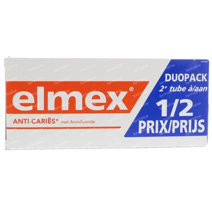 Elmex Dentifrice Anti-Caries Adulte Bitube 2x75 ml