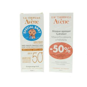 Avène High Protection Mineral Cream SPF50+ with Moisturizing Mask 100 ml