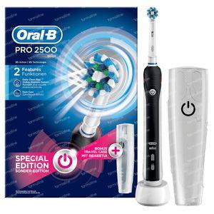 Oral B Pro 2500 Elektrische Tandenborstel Zwart + Travel Case GRATIS 1 set