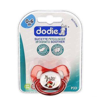 Dodie Fopspeen Siliconen Physio 0-6 Maanden 1 st