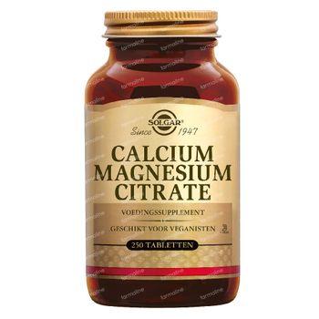 Solgar Calcium Magnesium Citrate 250 comprimés