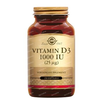 Solgar Vitamin D-3 25Mcg/1000IU 250 softgels