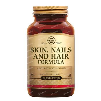 Solgar Skin Nails And Hair Formula 60 comprimés
