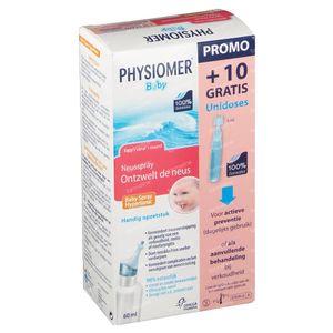 Physiomer Baby Spray Nasal Hypertonique + 10 Unidoses Gratuites 60 ml