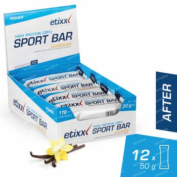 Etixx High Protein Barre Noix De Coco Vanille 12x50 g