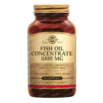Solgar Fish Oil Concentrate 1000Mg 60 gélules souples