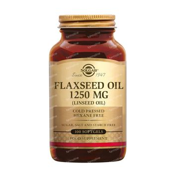 Solgar Flaxseed Oil 1250Mg 100 gélules souples