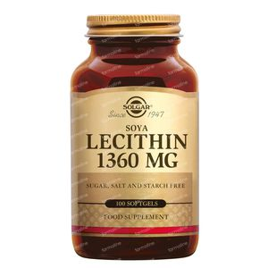 Solgar Lecithin 1360Mg 100 softgels