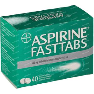 Aspirine Fasttabs 40 comprimés