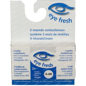 Eye Fresh Soft 3 Month Lenses 2-pack -6,00 2 stuks