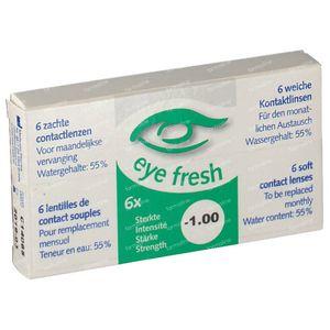 Eye Fresh Soft Month Lenses 6-pack  -1,00 1 stuk