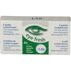 Eye Fresh Soft Month Lenses 6-pack  -1,50 1 pieza