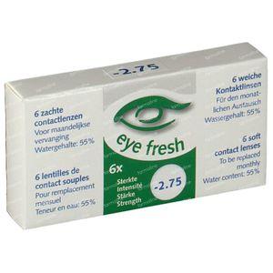 Eye Fresh Soft Month Lenses 6-pack  -2,75 1 stuk