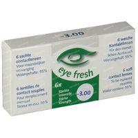 Eye Fresh Weiche Monat Kontaktlinsen 6-pack  -3,00 1 st