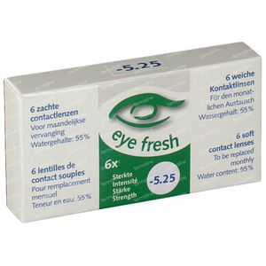 Eye Fresh Soft Month Lenses 6-pack  -5.25 1 stuk