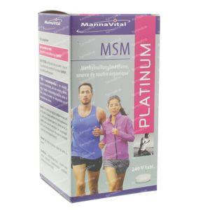 Mannavital MSM Platinum V-Tabs 240 comprimés