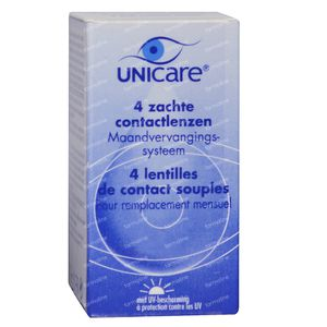 Unicare Souple Lentilles Mensuelles -2,00 4 pièces