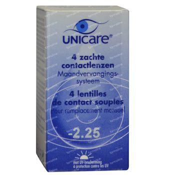 Unicare Souple Lentilles Mensuelles -2,25 4 st