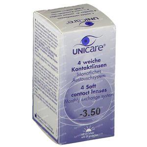 Unicare Souple Lentilles Mensuelles -3,50 4 pièces