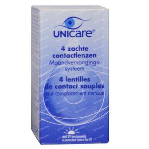 Unicare Souple Lentilles Mensuelles -4,00 4 pack