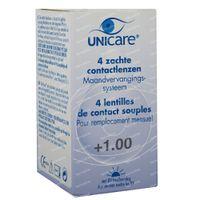 Unicare Weiche Monatslinsen +1,00 4 st